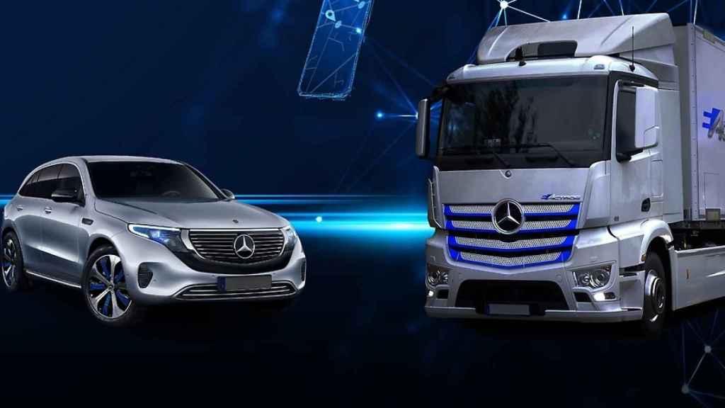 Dos vehículos de Daimler.