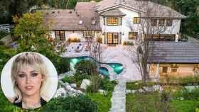 Miley Cyrus y el exterior de su nueva casa en montaje de JALEOS.