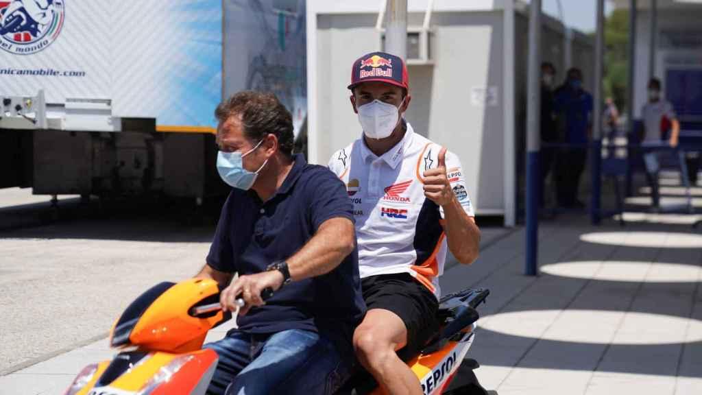 Marc Márquez, tras pasar los exámenes médicos en Jerez