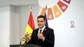 El presidente del Gobierno, Pedro Sánchez, preside la presentación de la agenda 'España Digital 2025' en Moncloa el 23 de julio de 2020.