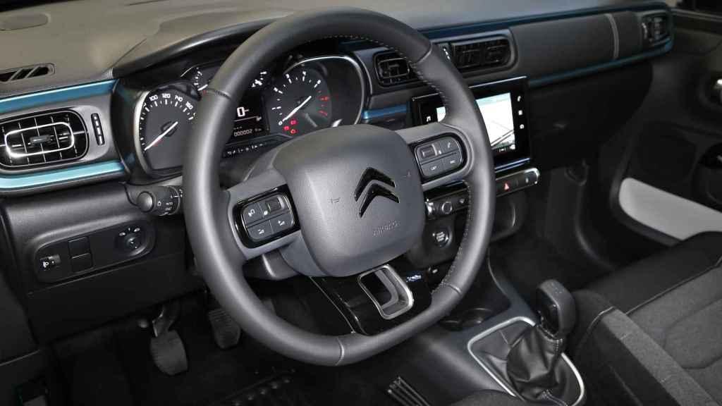 Interior del nuevo Citroën C3.