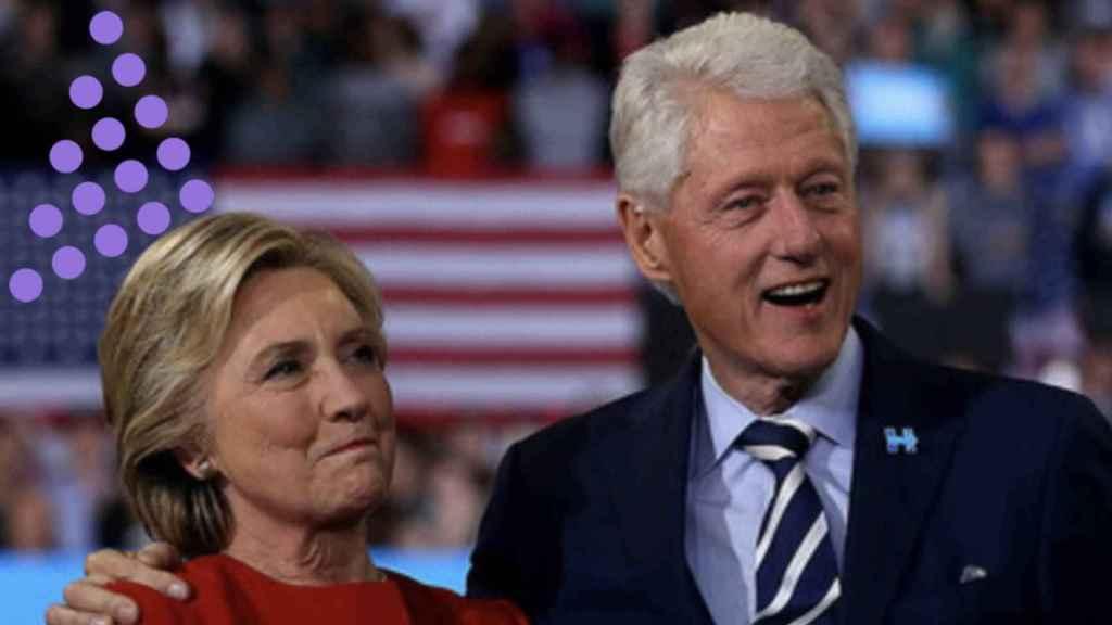 Hillary Clinton y Bill Clinton.