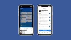 Capturas de las nueva app de Facebook.