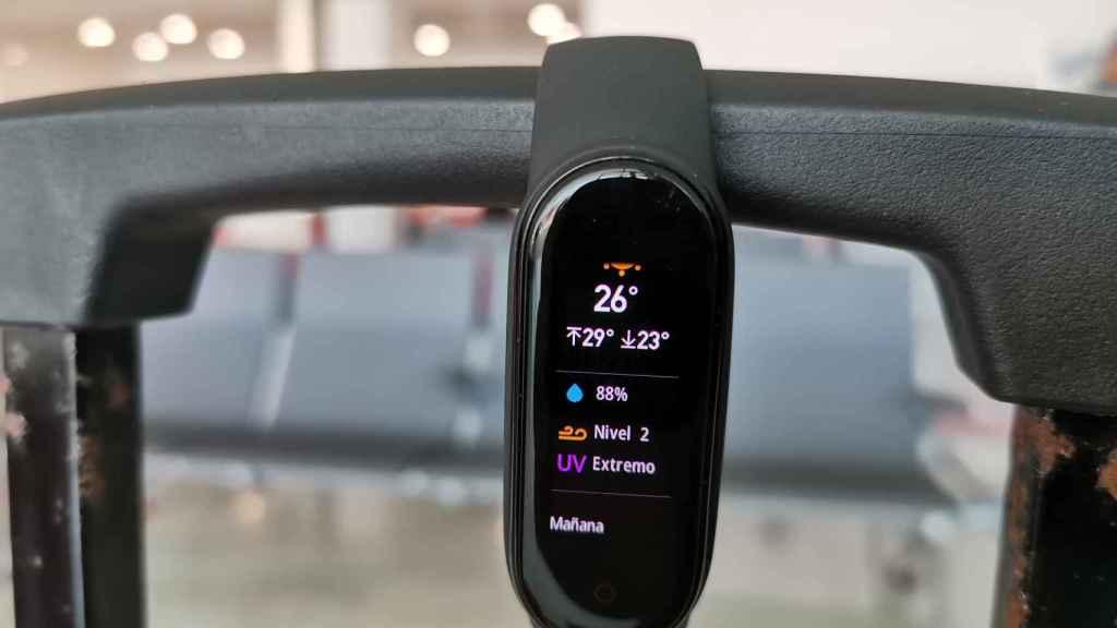 Aplicación del tiempo en Xiaomi MI Band 5