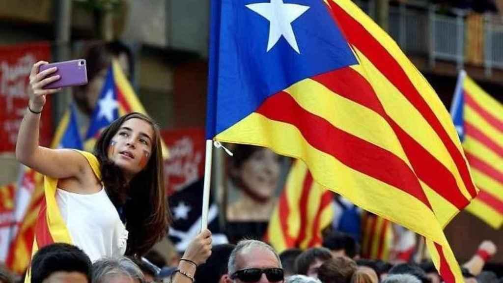 Marcha independentista de la Diada. Efe