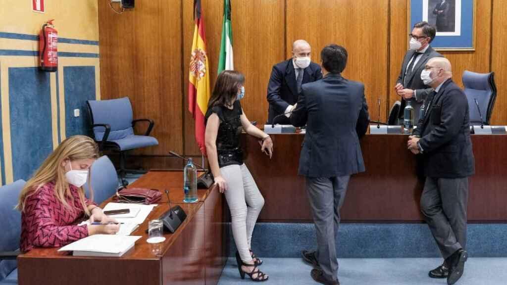 Parlamentarios en la comisión de recuperación andaluza.