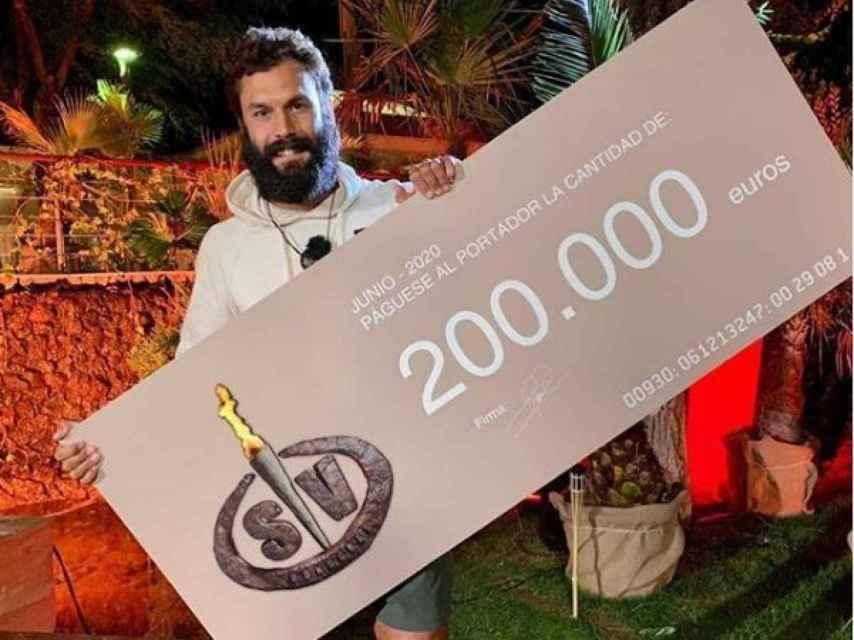 Jorge alcanzó la victoria de 'Supervivientes 2020'.