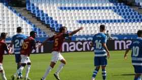 Partido entre el Extremadura y el Deportivo de La Coruña