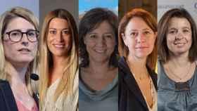 Elsa Artadi, Míriam Nogueras, Anna Erra, Marta Madrenas y Montse Morante.