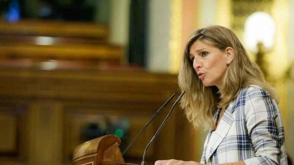 La  ministra de Trabajo y Economía Social, Yolanda Díaz, ha sido una de las partes activas del Gobierno en las negociaciones de la nueva ley.