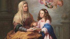 Santa Ana, junto a su hija María.