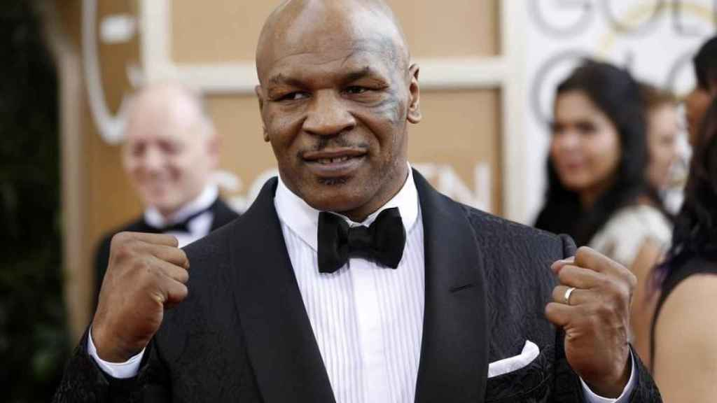 Mike Tyson durante los Globos de Oro