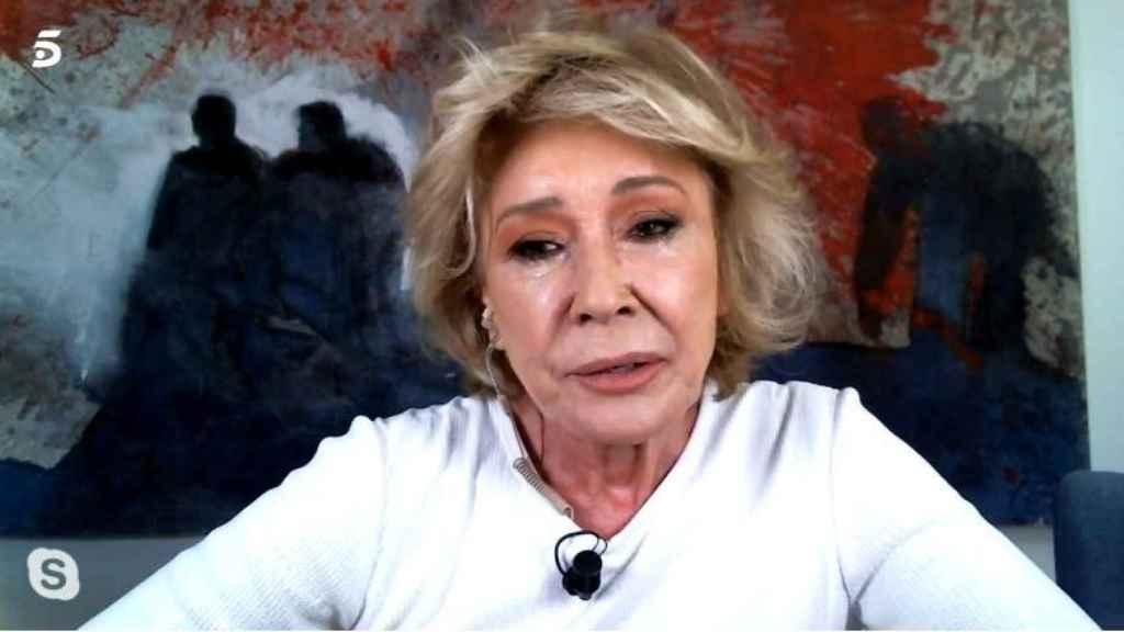 Mila Ximénez, en su videollamada a 'La última cena'.