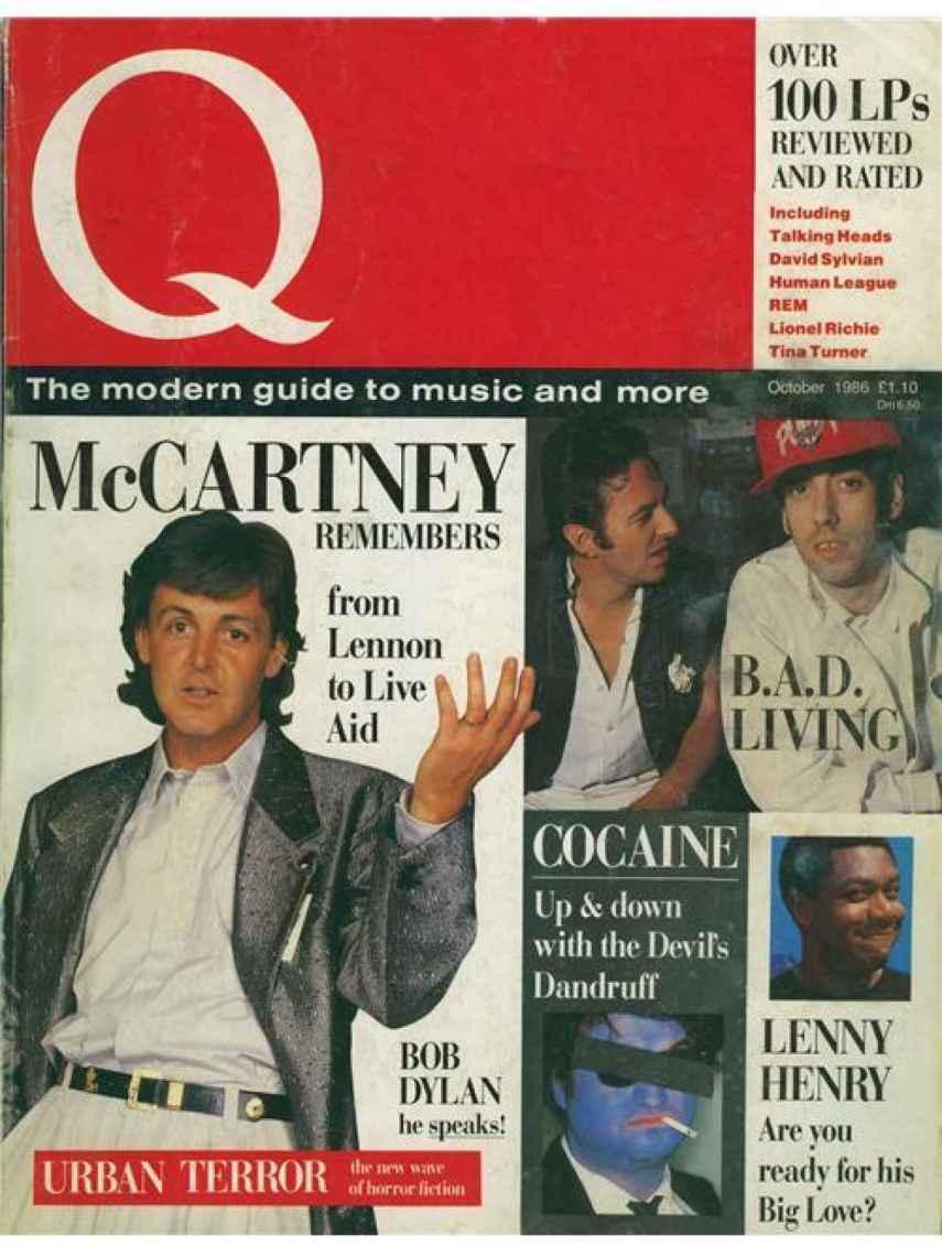 "La palabra ""cocaína"" en la portada del primer número de 'Q Magazine' seguro que ayudó a vender ejemplares."