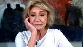 Mila Ximénez, por videoconferencia en 'La última cena' (Telecinco).