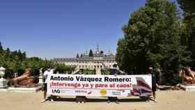 Represenantes de Unite en La Gran de San Ildefonso (Segovia).