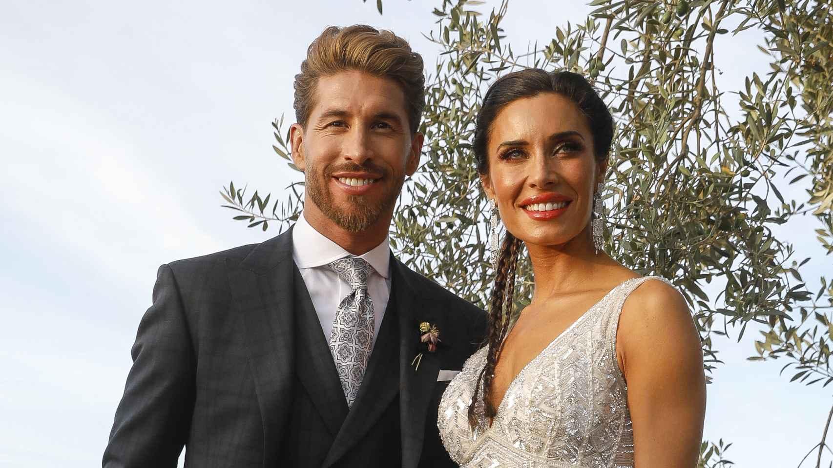 Pilar Rubio y Sergio Ramos, el día de su boda.