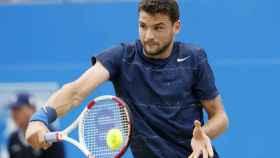 Grigor Dimitrov durante un partido de tenis