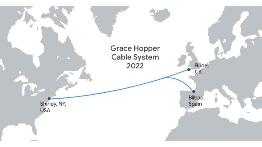 Ruta del cable Grace Hopper