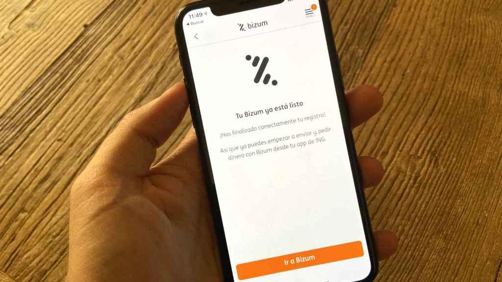 Bizum en la app de ING