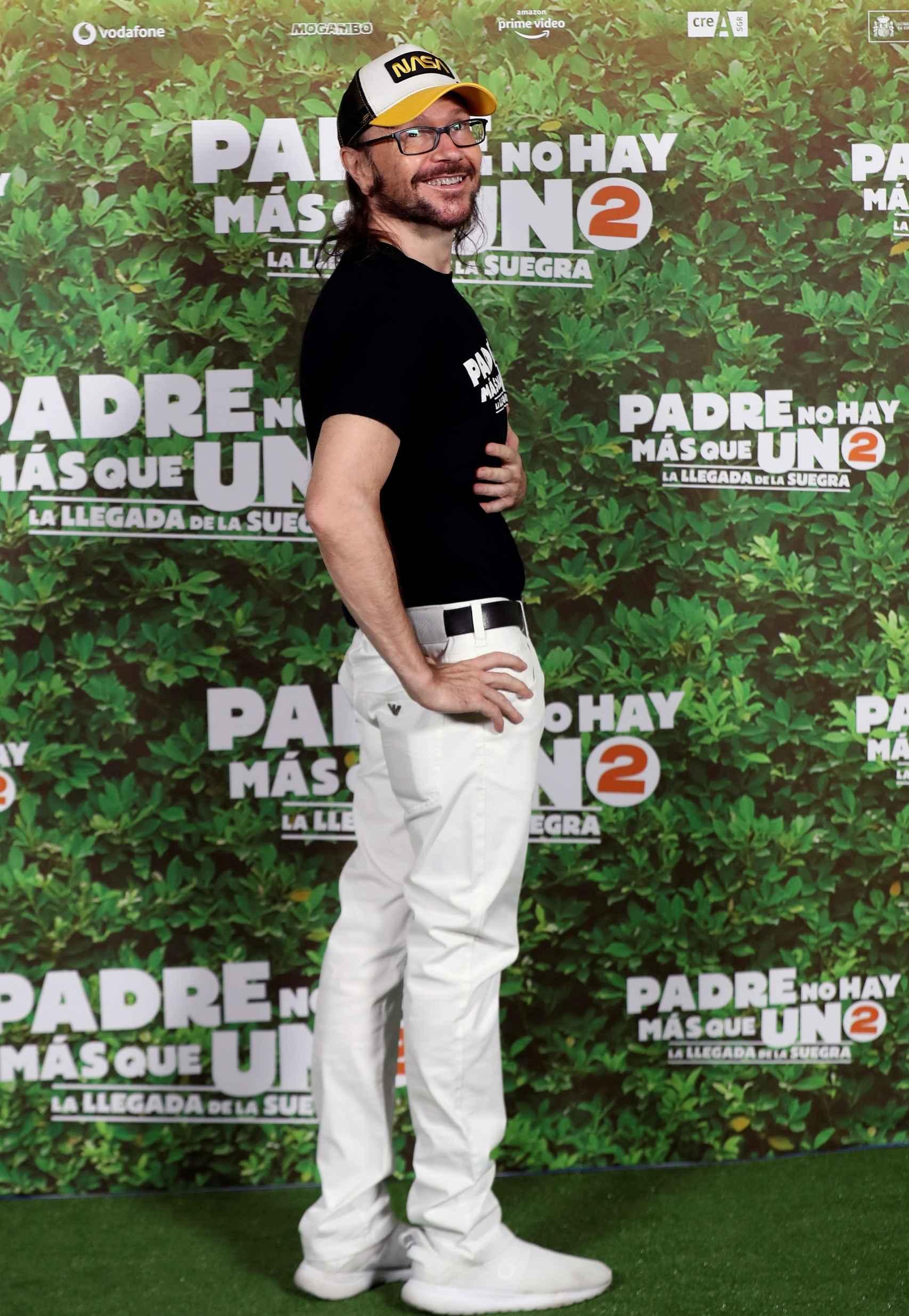 Santiago Segura durante la presentación de 'Padre no hay más que uno 2'.