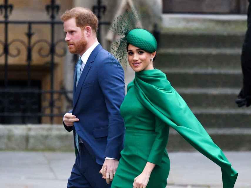 Los duques de Sussex durante el día de la Commonwealth en marzo de 2020.