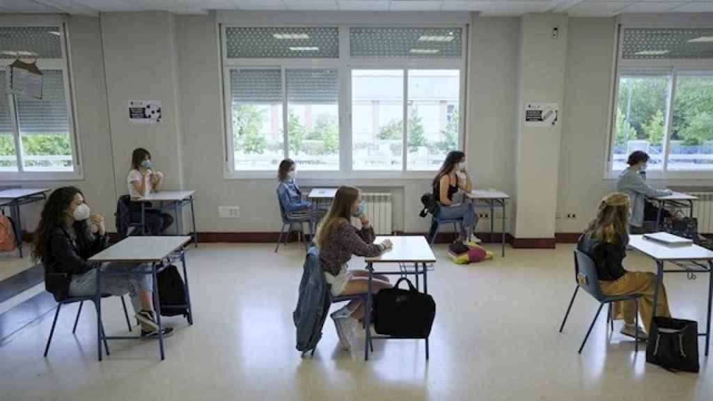 El alumnado en clase, en el IES Alameda de Osuna de Madrid.