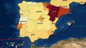 Incidencia del COVID-19 por Comunidades Autónomas. ECML Covid.