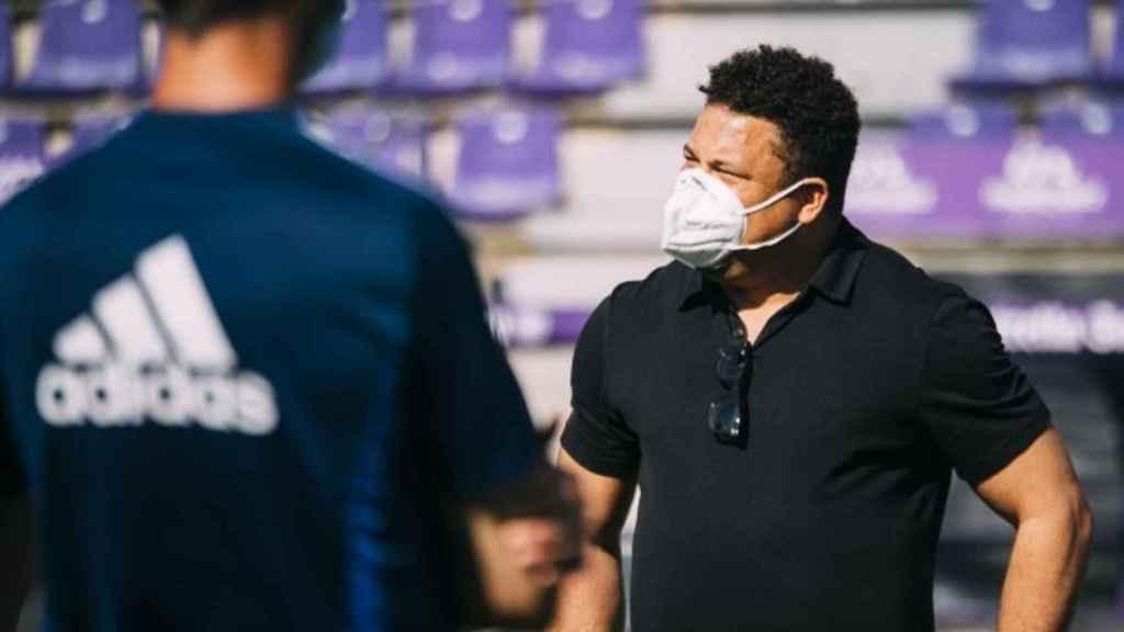 Ronaldo Nazario durante un entrenamiento del Valladolid