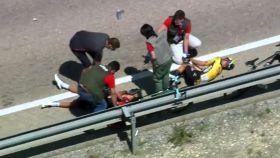 Gijs Leemreize sufre una caída en La Vuelta a Burgos y le amputan un dedo