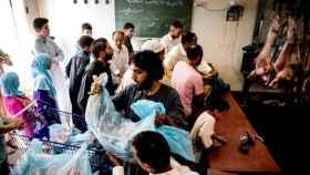 Musulmanes durante la celebración de la Fiesta del Cordero en una imagen de archivo.