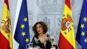 La ministra portavoz y de Hacienda, María Jesús Montero, este martes.