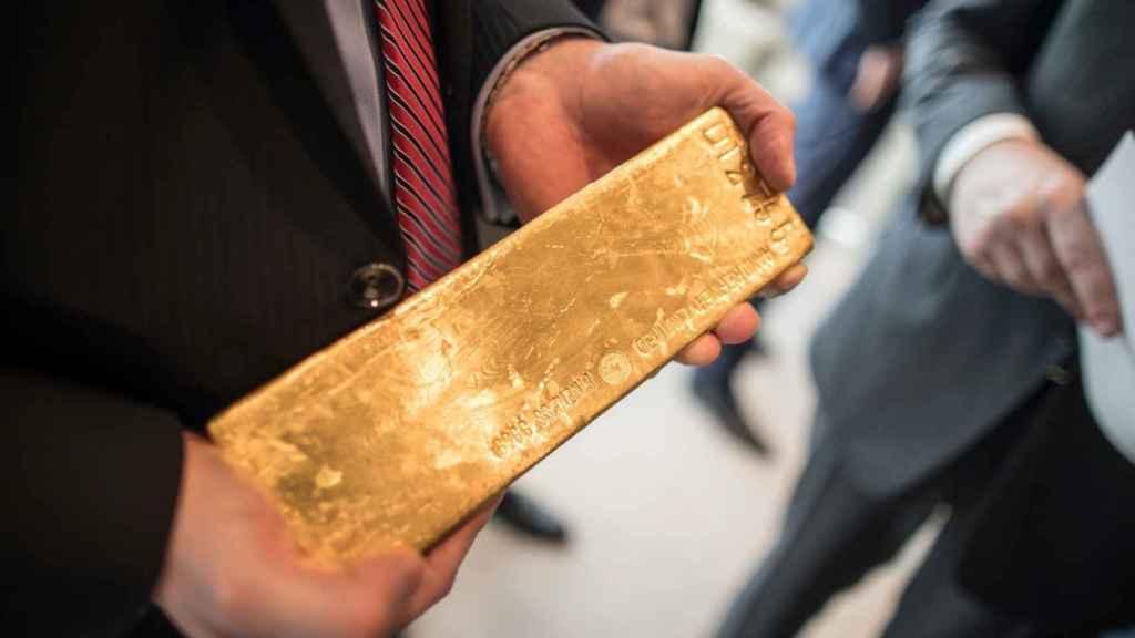 Lingote de oro de 400 onzas