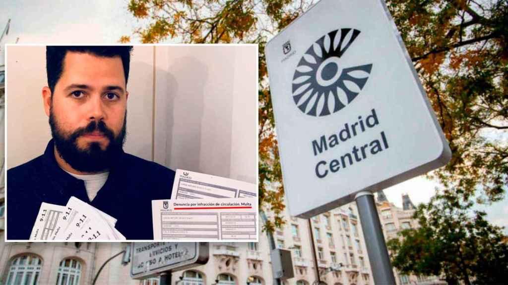 Carlos Santos, quien recibió 39 multas de Madrid Central que sigue recurriendo.