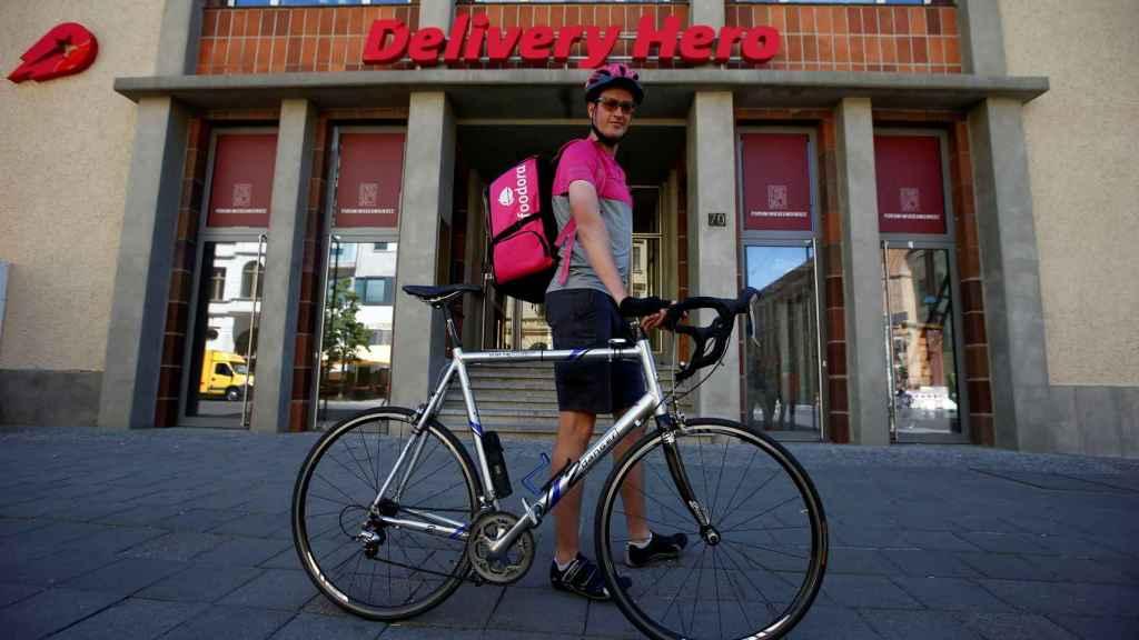 Un rider de Delivery Hero.