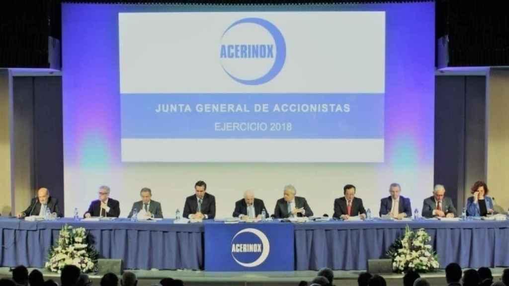 Junta general de accionistas de Acerinox del ejercicio 2018.