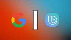 Logos de Google y Bixby.