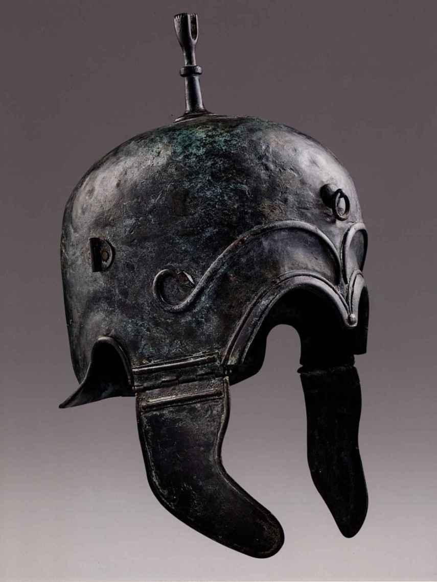 Uno de los cascos celtíberos expoliados en los años 80.