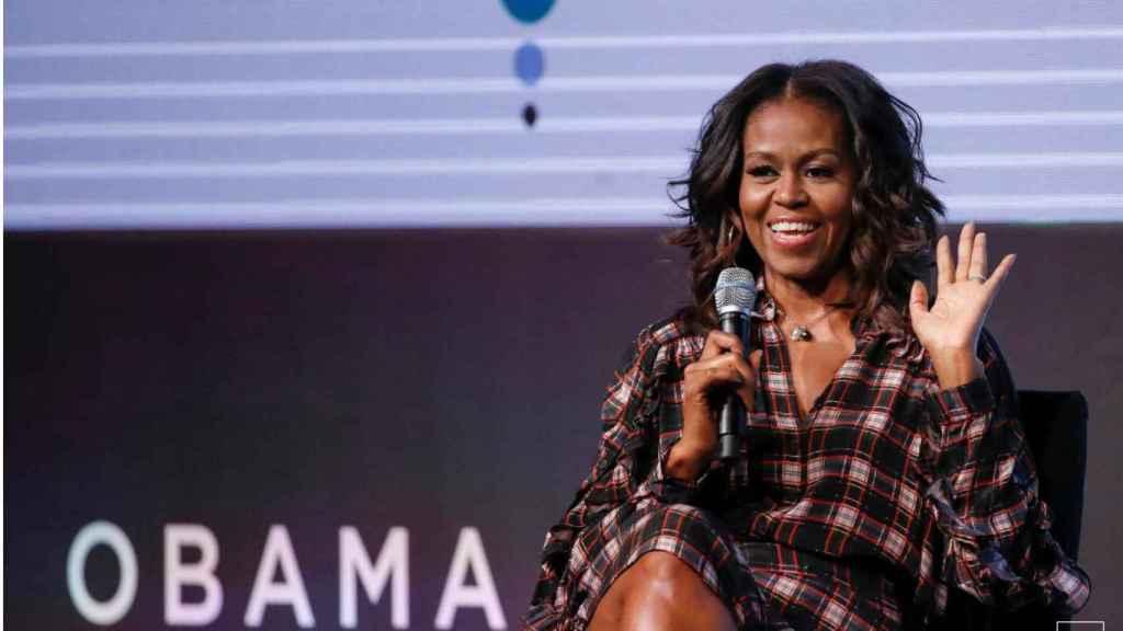 Michelle Obama en la primera cumbre de la Fundación Obama en Chicago en 2017.