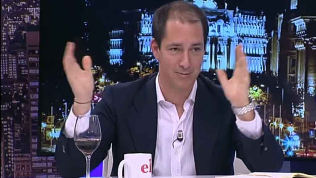 González Coello, durante una tertulia en Intereconomía.