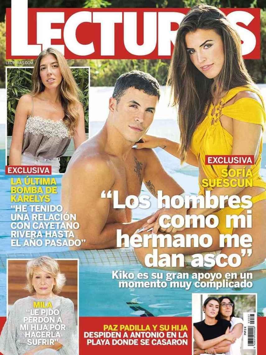 Portada de la revista 'Lecturas' con la entrevista a Karelys Rodríguez.