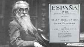 Valle-Inclán y la portada de la revista 'España' el día que empezó a publicarse 'Luces de bohemia'.