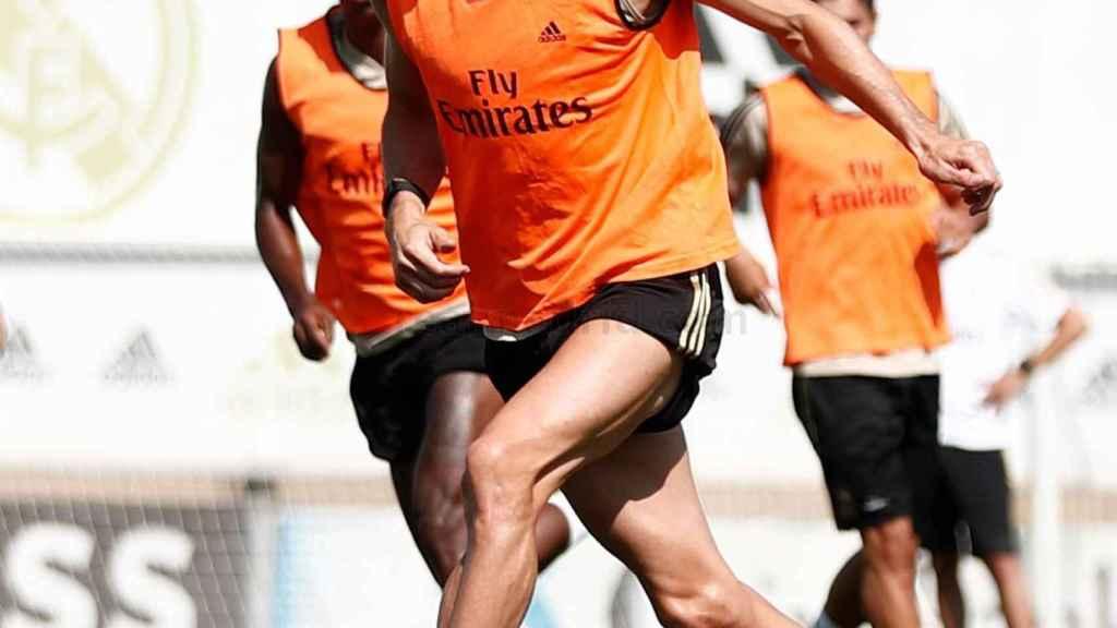 Gareth Bale en el entrenamiento con el Real Madrid