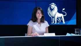 Mamen Vázquez, directora general de EL ESPAÑOL, durante su alocución en la Junta de Accionistas del diario.