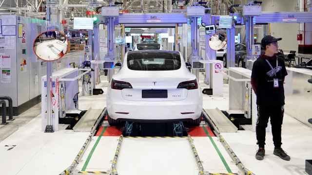 Imagen de la fabricación del Tesla Model 3.
