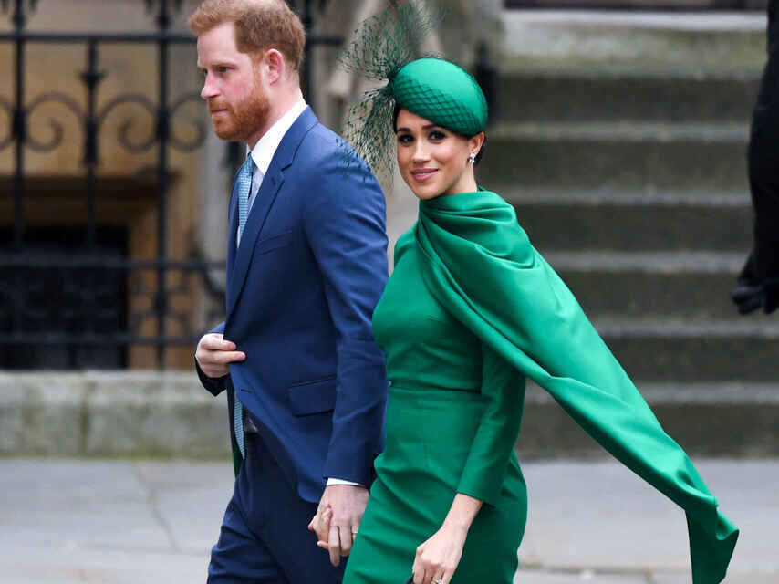 Harry y Meghan Markle, en su último acto antes de abandonar la monarquía británica.