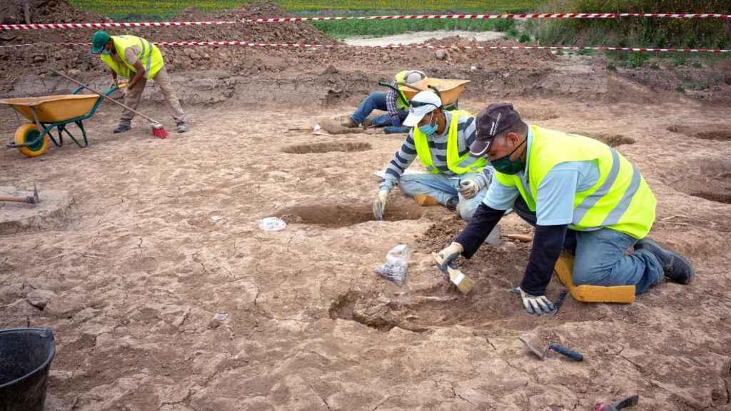 Excavación de la necrópolis en Grañón.