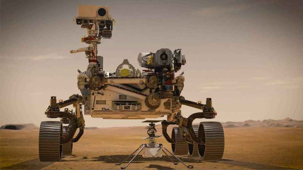 Rover Perseverance e Ingenuity.