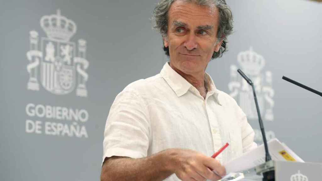 El director del Centro de Alertas y Emergencias del Ministerio de Sanidad, Fernando Simón.