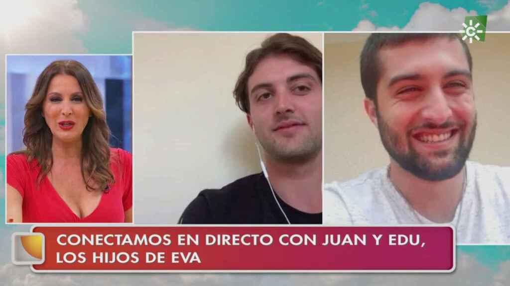 Eva Ruiz tiene dos hijos que han aparecido en su programa para sorprenderla.